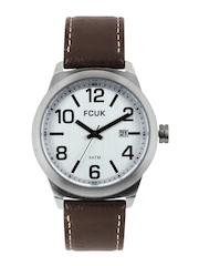 French Connection Men Silver-Toned Dial Watch FC1098STGN