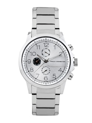 FCUK Men Silver Toned Dial Watch