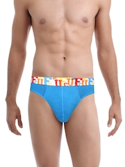 FCUK Underwear Men Blue Repeat Stretch Hip Brief TGCBL