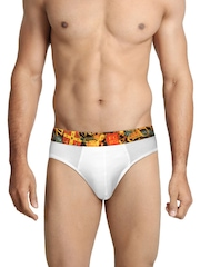FCUK Underwear Men White Active Briefs TGABL