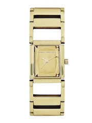 French Connection Women Gold Toned Dial Watch