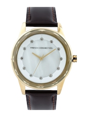 French Connection Women Pearly White Dial Watch