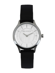 French Connection Women White Dial Watch FC1171BWJ