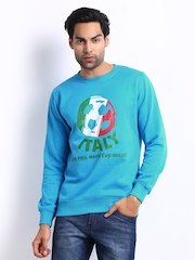 FIFA Men Blue Printed Sweatshirt