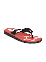 Fila Men Black & Red Rejent Flip Flops