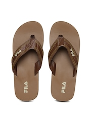 FILA Men Brown Antop Flip Flops