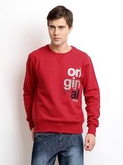 FILA Men Red Printed Sweatshirt