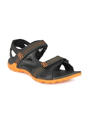 Fila Men Black Warner Sports Sandals