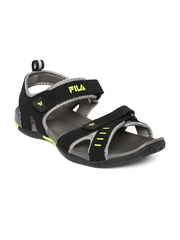 FILA Men Black Avior Sports Sandals