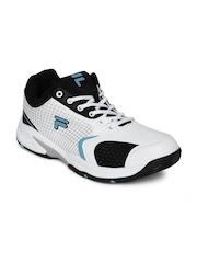 FILA Men White Turf Tennis Shoes