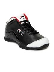 Fila Men Black & White Flintof Basketball Shoes