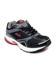 Fila Men Black Tangent Sports Shoes