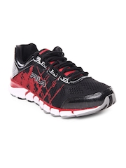 Fila Men Black & Red Turbo Fuel Energized Running Shoes