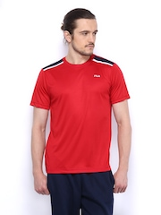 Fila Men Red T-shirt