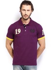 Fila Men Purple Polo T-shirt