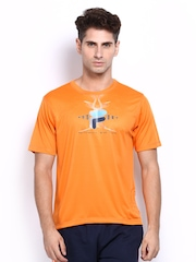 Fila Men Orange Printed T-shirt
