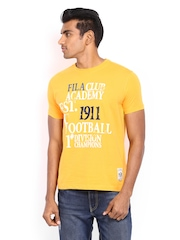 Fila Men Yellow Printed T-shirt
