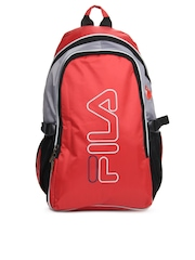 Fila Unisex Red & Grey Backpack