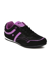 FILA Women Black Polygon Sneakers