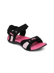 Fila Women Black Concord Sports Sandals