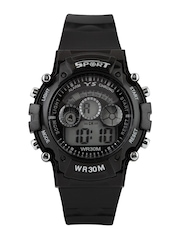 FLUD Unisex Black Digital Watch FS01
