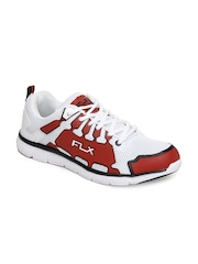 FLX Men White & Red Unolite Sports Shoes