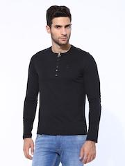 FREECULTR Men Black Henley T-shirt