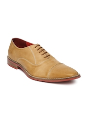 FREECULTR Men Light Brown Leather Formal Shoes