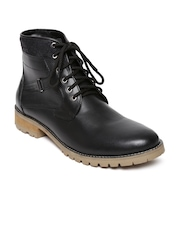 FREECULTR Men Black Leather Casual Shoes