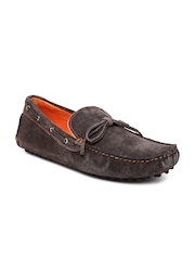FREECULTR Men Brown Suede Boat Shoes