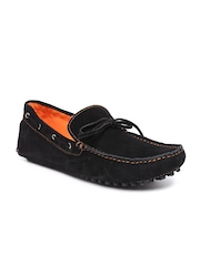 FREECULTR Men Black Suede Boat Shoes