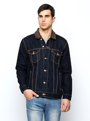 FREECULTR Men Navy Denim Jacket