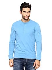 FREECULTR Men Blue Henley T-shirt