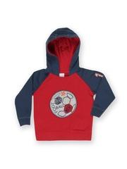 Boys Red & Blue Hooded Sweatshirt FS Mini Klub