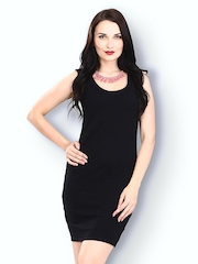 FabAlley Black Zip It Up Bodycon Dress