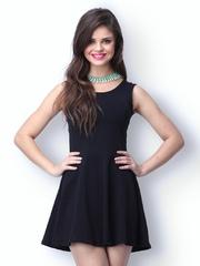FabAlley Black Last Dance Skater Dress