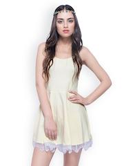 FabAlley Yellow Skater Dress