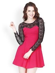 FabAlley Pink Skater Dress