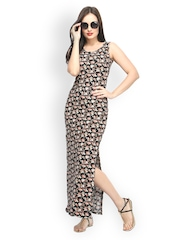 FabAlley Multi-Coloured Floral Print Maxi Dress