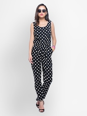 FabAlley Women Black Printed Jumpsuit
