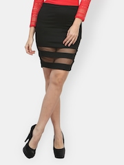FabAlley Black Pencil Skirt