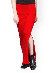 FabAlley Red Maxi Skirt