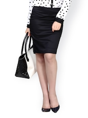 FabAlley Black Formal Pencil Skirt