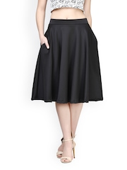 FabAlley Black Midi Skirt