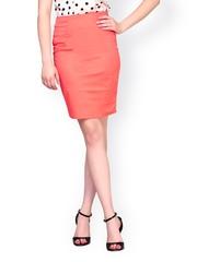 FabAlley Orange Pencil Skirt