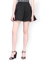 FabAlley Black Flared Skirt