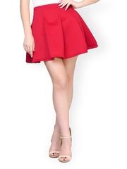 FabAlley Red Flared Skirt