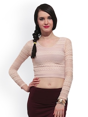 FabAlley Women Beige Top