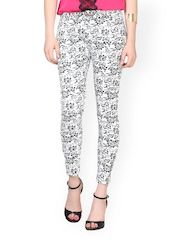 FabAlley Women White Printed Trousers