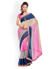 Fabdeal Multi-Coloured Georgette Printed Saree